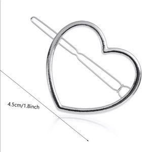 NIP women's Geometric Silver heart hair barrette